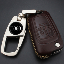 Leather Car styling Key Cover Case For Chevrolet Cruze Camaro Equinox Malibu Sonic Spark Volt TRAX AVEO 2009 2010 2011 2012 2013