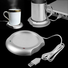 2017 USB Insulation Coaster Heater Heat Insulation electric multifunction Coffee Cup Mug Mat Pad Brand New(China)