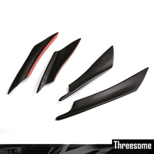 SRXTZM car styling 4pcs Car Front Bumper Spoiler Bumper Lip Splitter Fins Body Spoiler Canards Car stickers for ford focus 2(China)