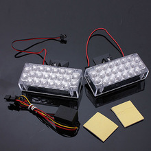 Best Quality 1 Pair 22 LED Red Flashing Emergency Light Warning Grill Strobe Flash Lamp 12V 220LM 4W - 6W(China)