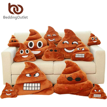 BeddingOutlet Smile Cushion Poop Emoji Pillow Special Gifts Smiley Face Pillow 3 Sizes cojines decorativos Home Decor(China)