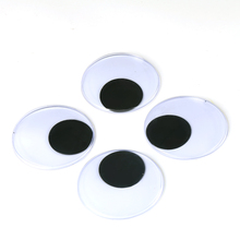 With Self-adhesive 4PCS Big Size 7.5CM Round Design Plastic Movable Doll Eyes Googly Eyes For Toy DIY Doll Accessories(China)
