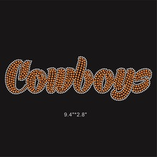 25 Pieces/Lot Cowboys Football Hotfix Rhinestone Applique Bling Bling For DIY Apparel(China)