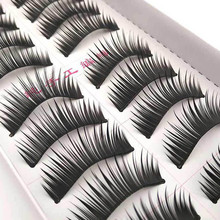 2017 Brand New Hot Selling High Quality 10 Pairs Pro Double False Eyelashes Natural Thick Crossed Bare Makeup Wholesale Retail(China)