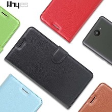 For BQ Aquaris U Lite Case Skin High Quality PU Leather Lichee Pattern Phone Cover Card Slot Wallet Case Flip Bags 9 Color(China)
