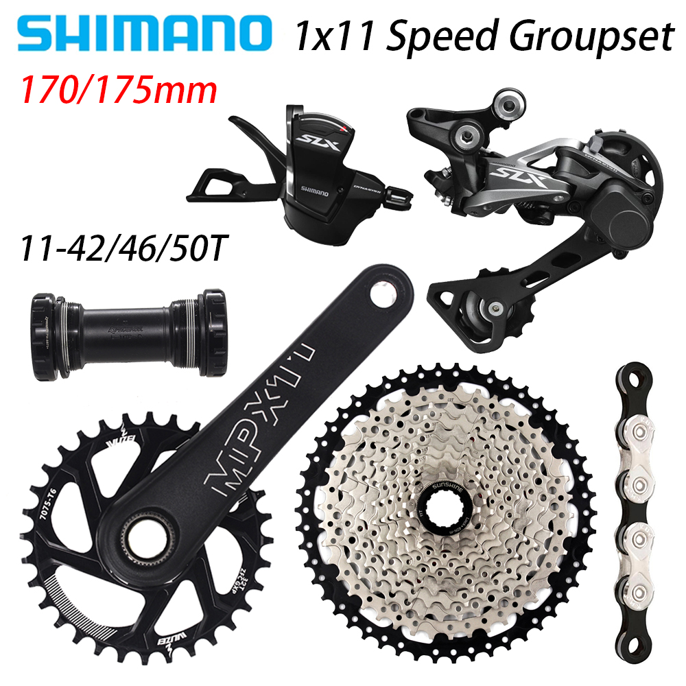 Brand New Shimano MTB SLX M7000 Groupset 4 pcs 11-46T SLX M7000 Group 11-46T