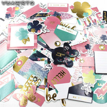 VUAWRTG 76pc Love Wish Colorful Cardstock Die Cuts for Scrapbooking Happy Planner/Card Making/Journaling Project DIY