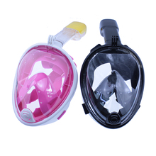 antifog Underwater mask snorkel set Full Face Snorkeling Scuba diving goggles With earplugs mergulho equipamento profissional(China)