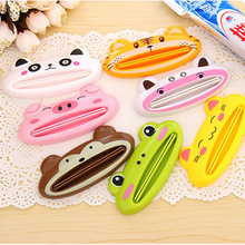 Cartoon Bathroom Dispenser Toothpaste 1pc/lot Lovely Animal Tube Squeezer Easy Squeeze Paste Dispenser Roll Holder 8.8*4cm(China)