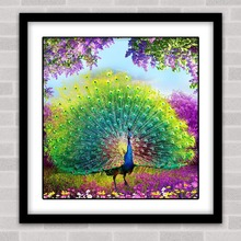 5d diy diamond painting cross stitch diamond embroidery peacock picture diamond mosic pattern animals arts and crafts gift 35x35