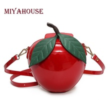 Miyahouse Women Crossbody Bags Famous Brand Red Apple Bag Fashion Female Messenger Bags Leaves Mini Bags for Teenager Girls(China)