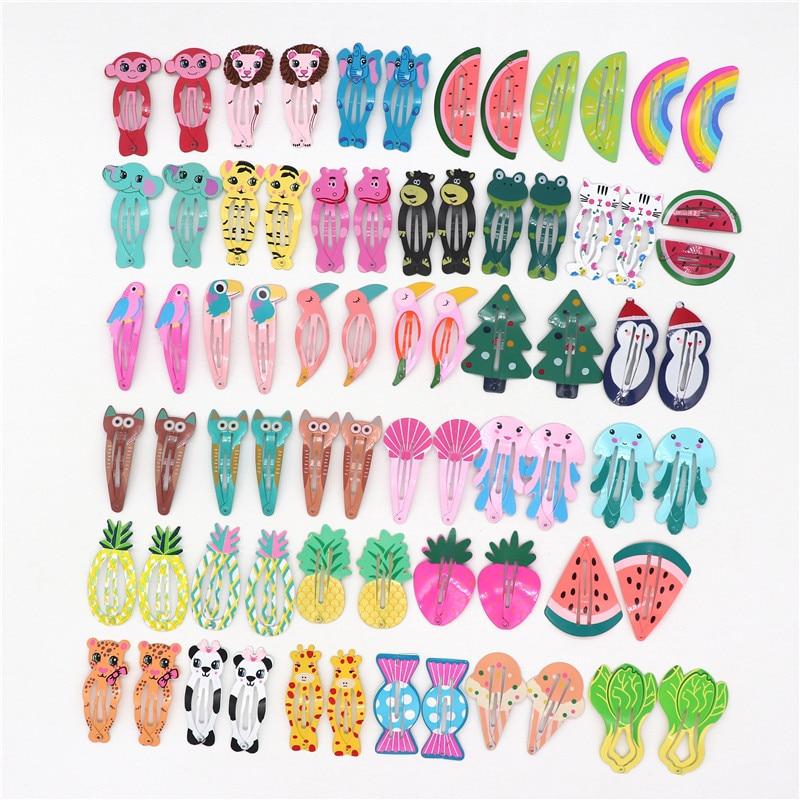 10Pcs//Set Women Animal//Mermaid// Hairpins Girls Barrettes Hair Clips BB Hair Clip