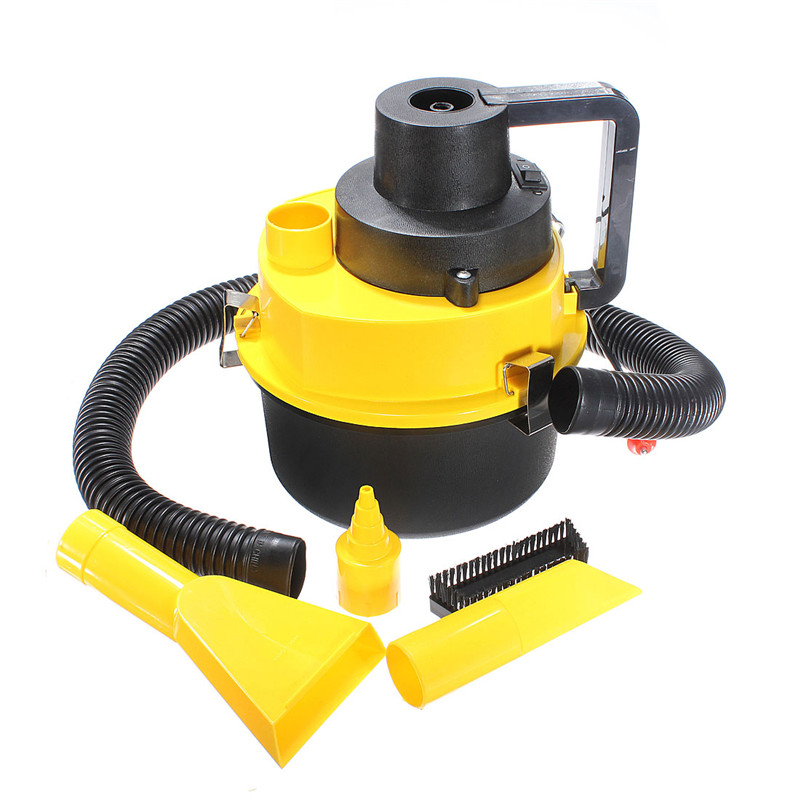 Yellow Auto Car Boat Truck Van Portable 12V Wet And Dry Vacuum Cleaner Hoover Air PumpCar Vacuum Cleaner(China (Mainland))