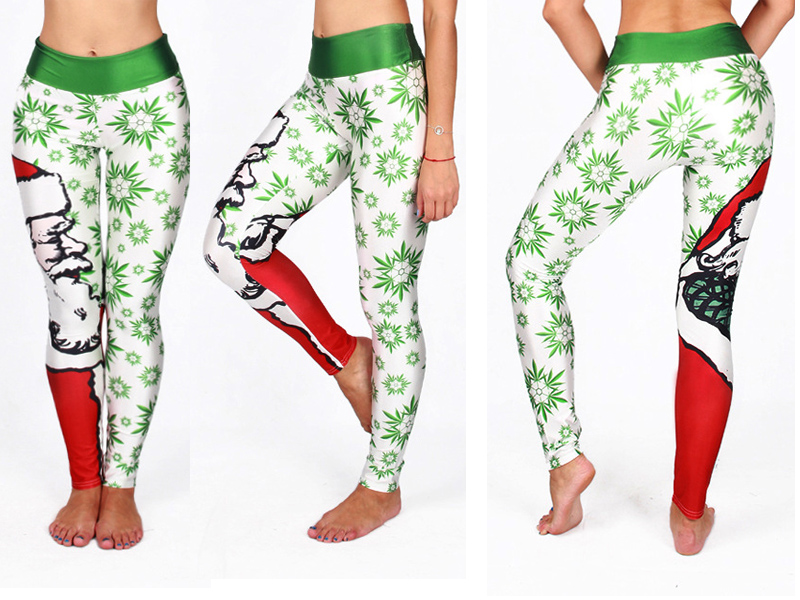 5 Styles Funny! 3D Print Christmas Leggings, Santa Claus, Trees Printed Festival Clothes 5 Styles Casual Legging 17