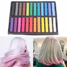 6/12/24 Colors Convenient Temporary Super Hair Dye Colorful Chalk Hair Salon Pastel Hairdressing Hair Dyeing Coloring Chalks(China)