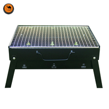 More Convenient Black Iron Outdoor Foldable Portable BBQ Charcoal Grill Plus Size Barbecue Essential Fits 3-5 Person(China)