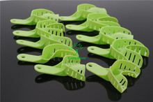 New Arrived Dental Autoclavable Central Green 10pcs/Bag Full Size Plastic Impression Trays(China)