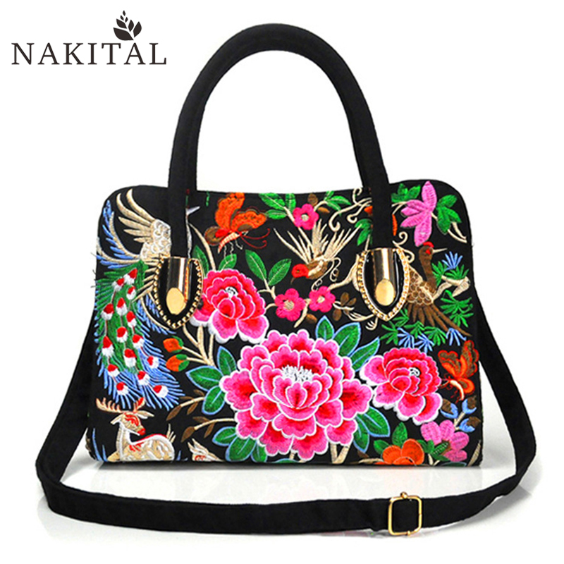 Women Rose Bags Embroidery Bag Rose Red Flower Woman Bag 2017<br><br>Aliexpress