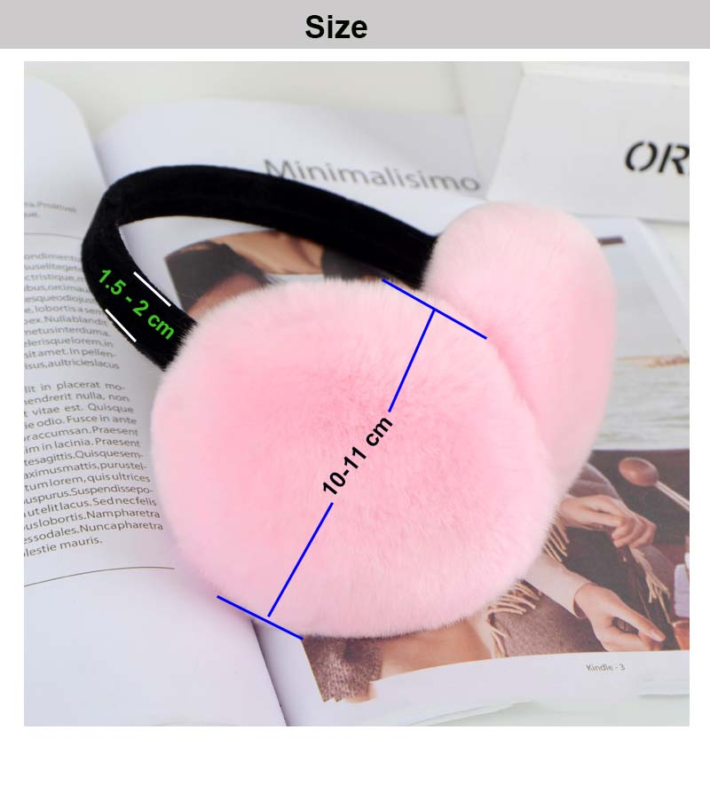 real fur earmuf size