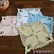 Free shipping  ZAKKA 12 pic/lot square cotton lace felt for RU as novelty households crochet doilies coaster for wedding decor