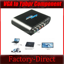 VGA to Ypbpr component Video converter PC to TV converter with power adapter in retail package