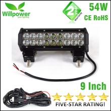 24v truck light bar Combo beam dual rows 12v waterproof 9 inch 54W offroad car truck led work light bar 12v