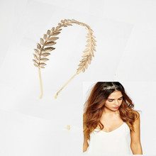 European and American jewelry wholesale bride pan head three big fish Winding leaf hair bands headdress(China)