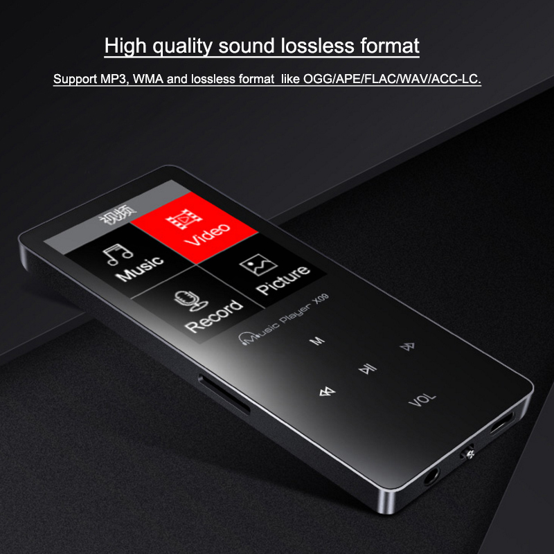 MP3 Player 2017 Newest IQQ X09 1.8 With Built-in Speaker Music Sport Players Supports Voice Recorder FM Radio  E-Book Reading (4)