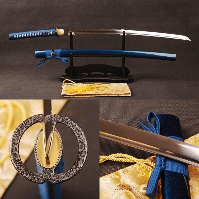 Blue katana sword