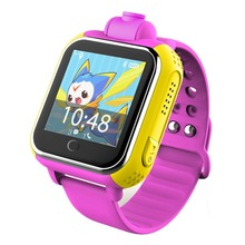 Children's watch GPS tracking smart watch with voice chat 2MP camera to monitor everything around kids SOS emergency call watch(China)
