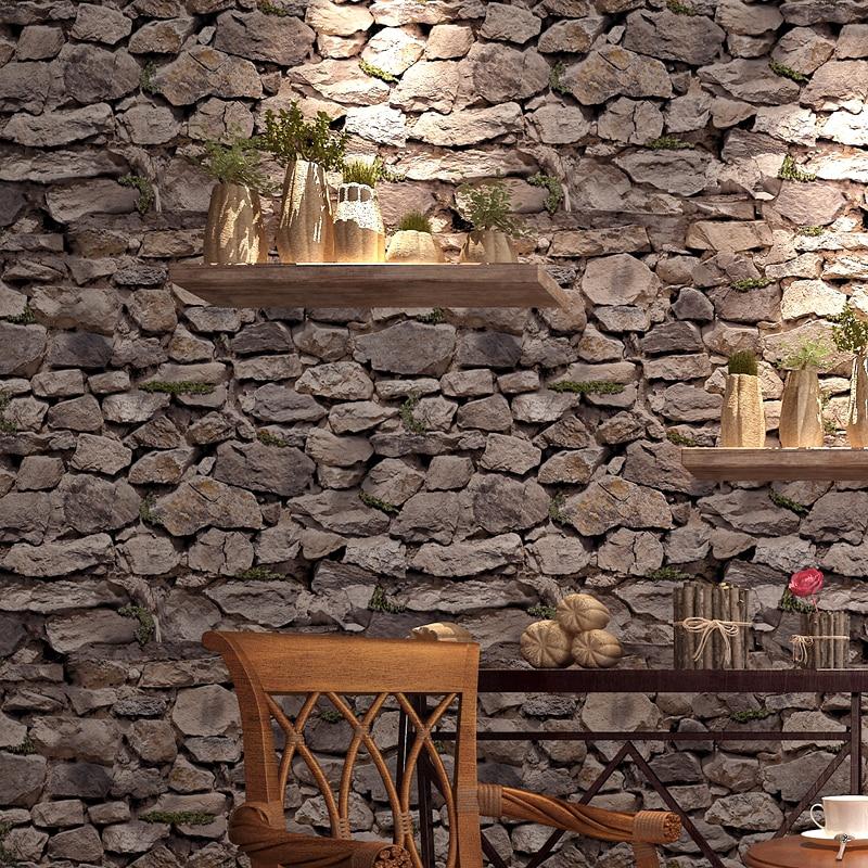 0.53x10 m 3d retro mountain rock pattern  wallpaper living room office bedroom bar coffee shop restaurant background wallpaper<br>