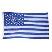 1pc Tennessee Titans USA With Stars and Stripes Banner Team Flag American Tennessee Titans Flag Banner Size 90*150cm/3*5 FT(China)