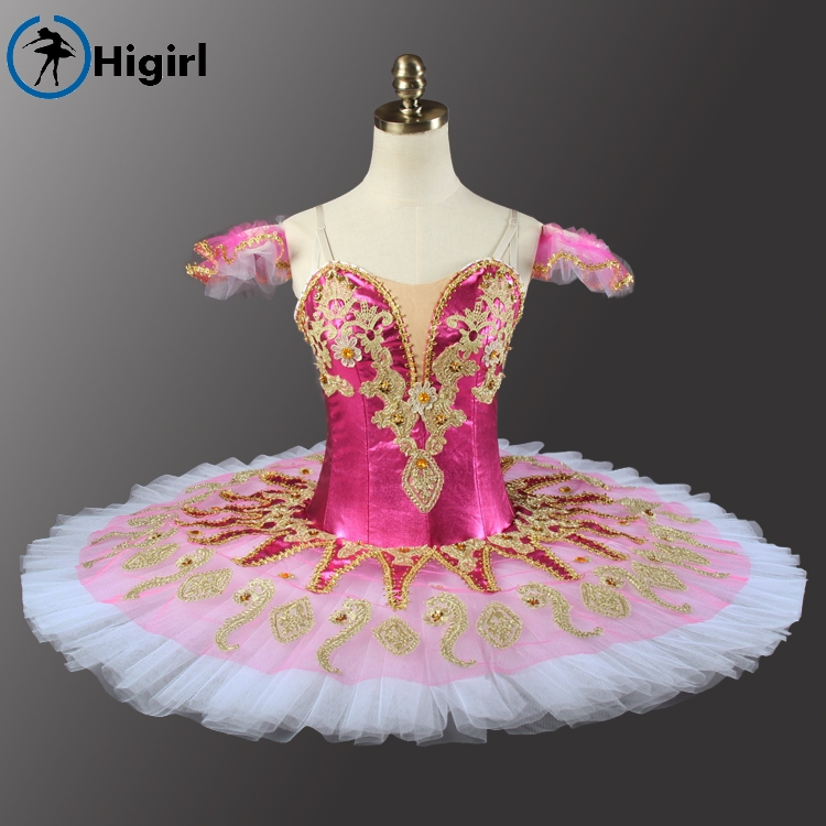 Shipping free! Rose red adult women tutu Ballerina Competition Professional Ballet Stage Costum dress BT9134H