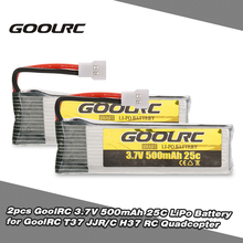 GoolRC Original Battery for RC Drone 2pcs 3.7V 500mAh 25C Lithium Polymer LiPo Battery for GoolRC T37 JJR/C H37 RC Quad Parts