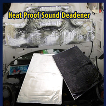 50cm*30cm Car Hood Engine Firewall Heat Mat Deadener Sound Insulation Deadening 19.7''x11.8'' Material Aluminum Foil Sticker(China)