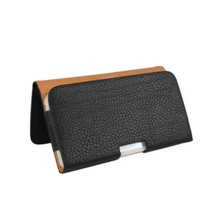 Horizonal Style Brown PU Leather Belt Clip Pouch Man's Style Folding Wallet Case for LG G2/X Cam/U 5.2 Inch Phone Bags