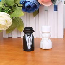 MagiDeal Wonderful 24Pcs Bride/Bridegroom Shaped Empty Bubbles Blowing Bottle Wedding Favor for Adults Kids Gifts Black/White(China)