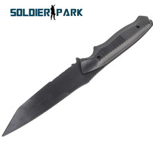 Airsoft Military Soft Plastic AC-6019 Knife US Army Model Decoration Hunting Knife with Portable Holder for Stage Cosplay Props