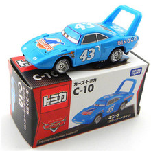 Disney Tomica Pixar Cars Diecast No.43 Blue Dinico The King Metal Toys Car With Box 1:55 Jugetes Toy Model Cars For Children(China)
