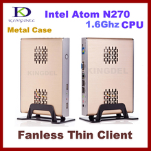 Thin Client Computer, Mini PC, Intel N270 1.60Ghz Dual Core, 1GB RAM, 16GB SSD, 32 Bit, 720P HD, 3D Games supported