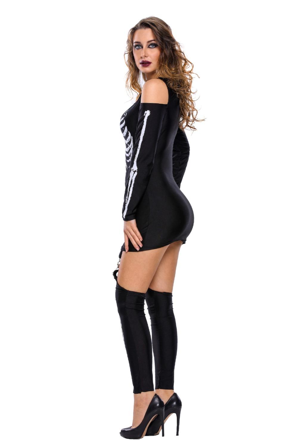 X-rayed-Halloween-Off-shoulder-Skeleton-Dress-Costume-LC89025-2-4