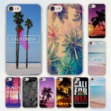 california trees Beach Surf Travel Tropical design hard clear Case Cover for Apple iPhone 7 6 6s Plus SE 4s 5 5s 5c Phone Case