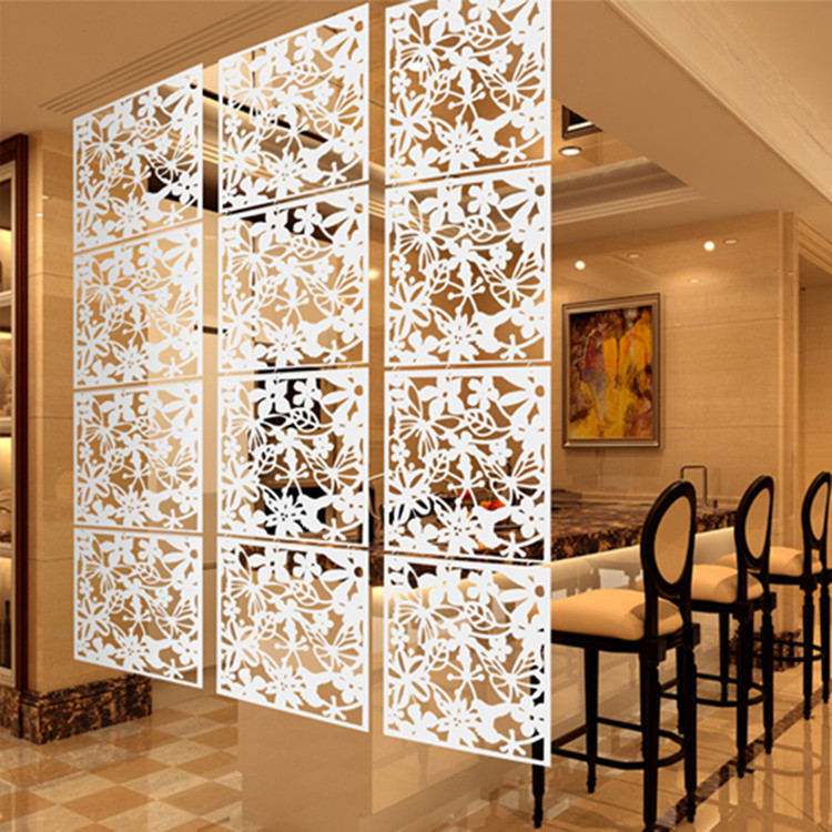 free shipping 4pcslot hanging screen partition brief paravent decoration room dividers grille decoration