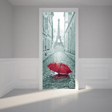 Wall Stickers DIY Mural Bedroom Home Decor Poster PVC Cabinet Waterproof Imitation 3D Door Sticker Decal 200 x 38.5 cm