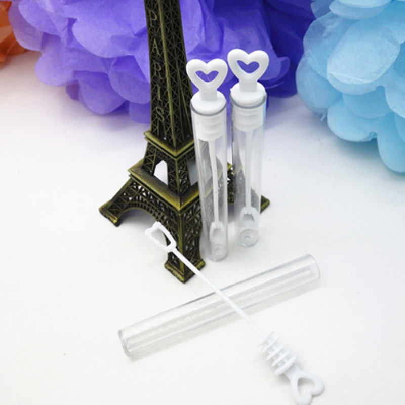 12pcs Love Heart Wand Tube Wedding Favour Bubbles Soap Bottle Confetti Party Decor