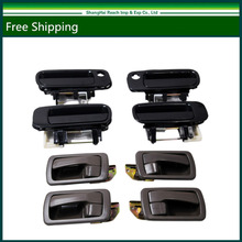 Black Outside & Brown Inside Door Handles Right Left Front Back For Camry 92-96 OE#: 6922033020 / 6921033010 / 69240330(China)