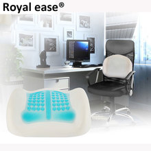 ROYAL EASE 3D Silicone Cooling Pillow Hydrogel Memory Massage Therapy Waist Chair Cushion Lumbar Spine Back Support waist Pad(China)