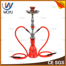 DIY red flame hookah kit shisha set kitchen accessories with box package artificial flowers design water bottle glass al faker
