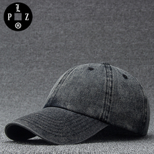 PLZ Vintage Cowboy Hats Washed Denim Baseball Cap Cotton Adjustable Superstar Film Style Caps Blank Solid Plain Dad Cap 56-59cm(China)