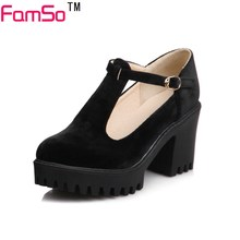 FAMSO Size 34-43 2017 New Retro Style Women's Pumps pink  black Gladiator Pumps Shoes Summer Designer Shallow Low Shoe PS3009
